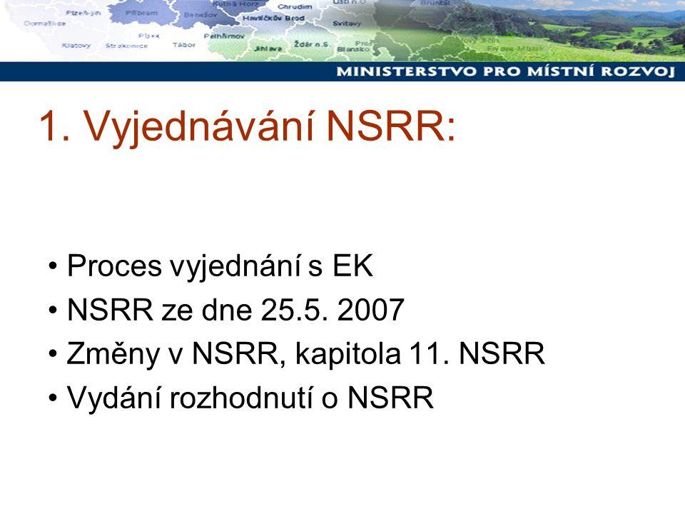 1. Vyjednávání NSRR: Proces vyjednání s EK NSRR ze dne 25.5.
