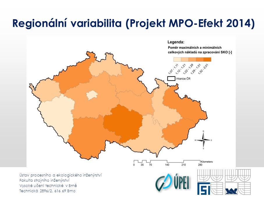 Ústav procesního a ekologického inženýrství Fakulta strojního inženýrství Vysoké učení technické v Brně Technická 2896/2, 616 69 Brno Regionální variabilita (Projekt MPO-Efekt 2014)