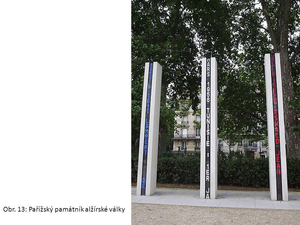 Obr. 13: Pařížský památník alžírské války