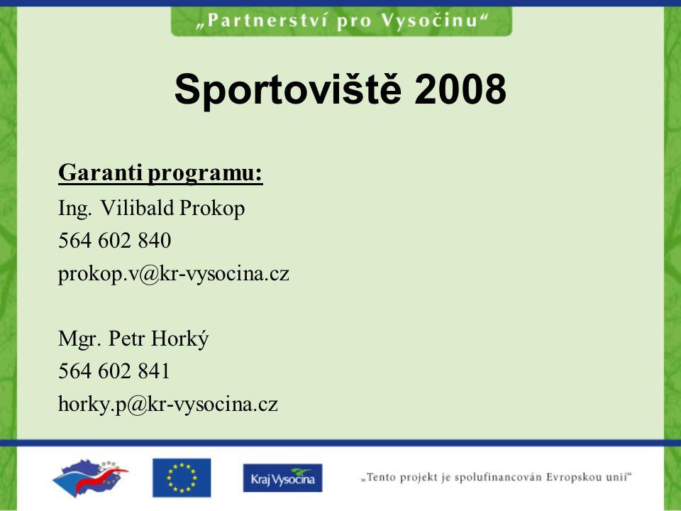 Garanti programu: Ing. Vilibald Prokop 564 602 840 prokop.v@kr-vysocina.cz Mgr.