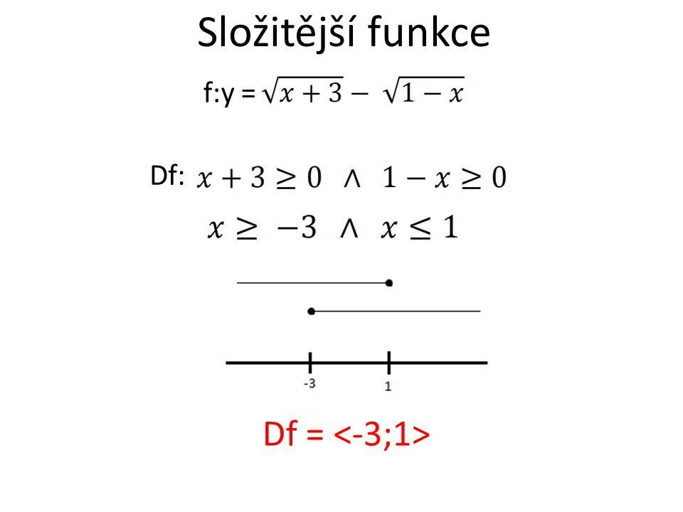 f:y = Df: Df = Složitější funkce