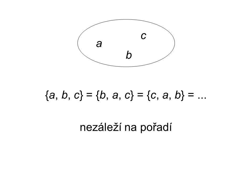Uspořádaná dvojice prvků a, b  M značíme (a, b) platí (a, b)  (b, a) pro a  b definujeme jako množinu {{a}, {a, b}} obdobně uspořádaná n-tice množina prvků, u níž záleží na pořadí prvků
