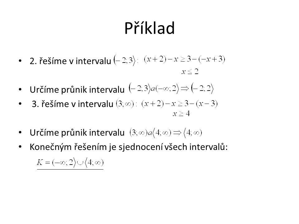 Příklad 2. řešíme v intervalu Určíme průnik intervalu 3.