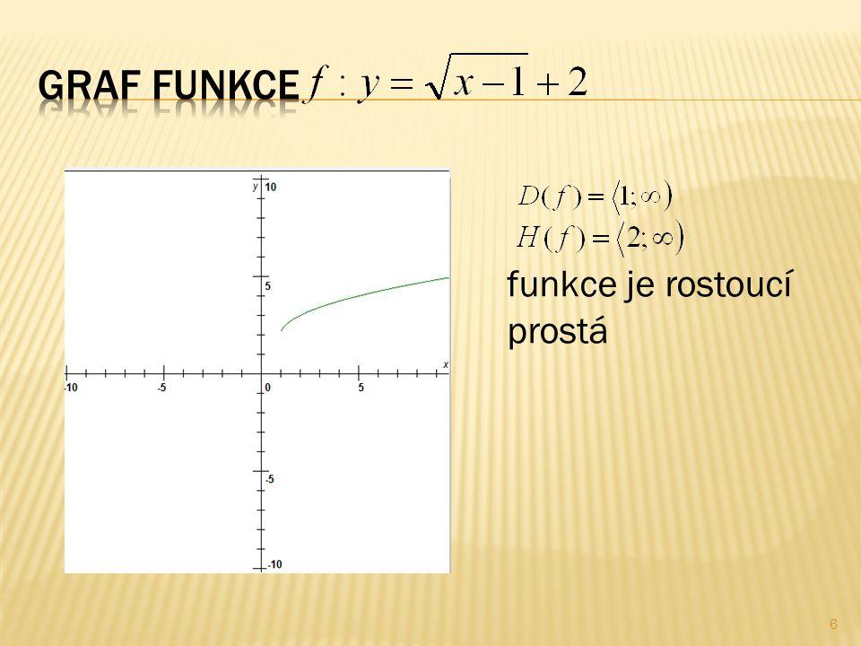 6 funkce je rostoucí prostá