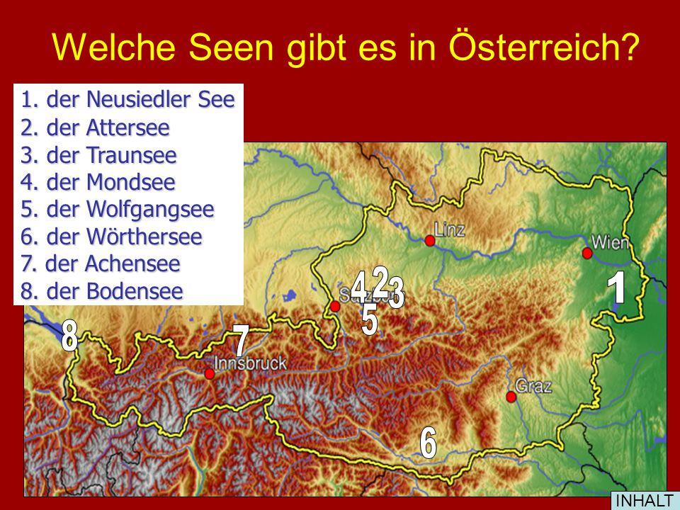 Welche Flüsse entwassern Österreich? die Donau die Salzach der Inn EnnsMurDrau INHALT