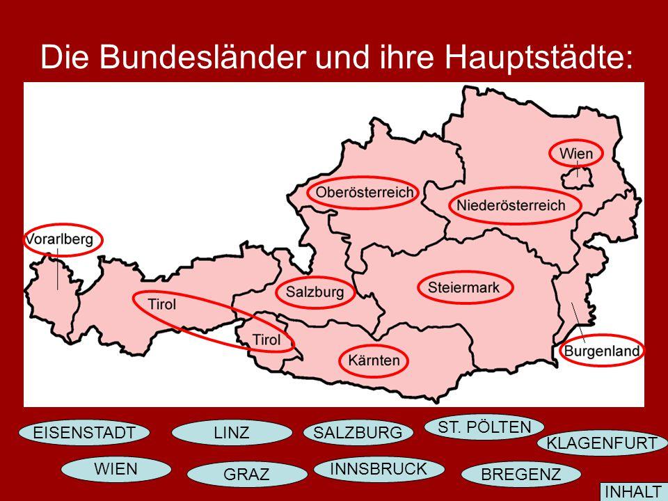 Österreich ist eine Bundesrepublik. Wie viele Bundesrepublik hat Österreich? Österreich hat 9 Bundesrepublik. ? INHALT