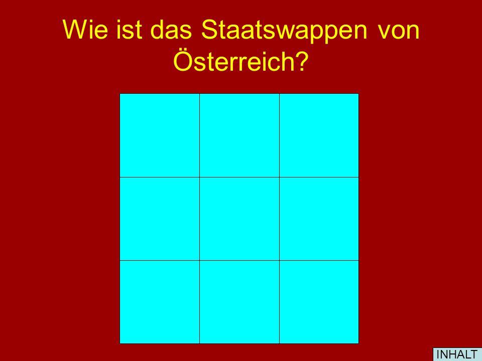 Wie ist die Nationalflagge von Österreich? INHALT