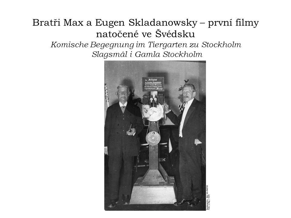 Bratři Max a Eugen Skladanowsky – první filmy natočené ve Švédsku Komische Begegnung im Tiergarten zu Stockholm Slagsmål i Gamla Stockholm