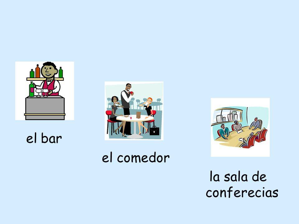 el bar el comedor la sala de conferecias