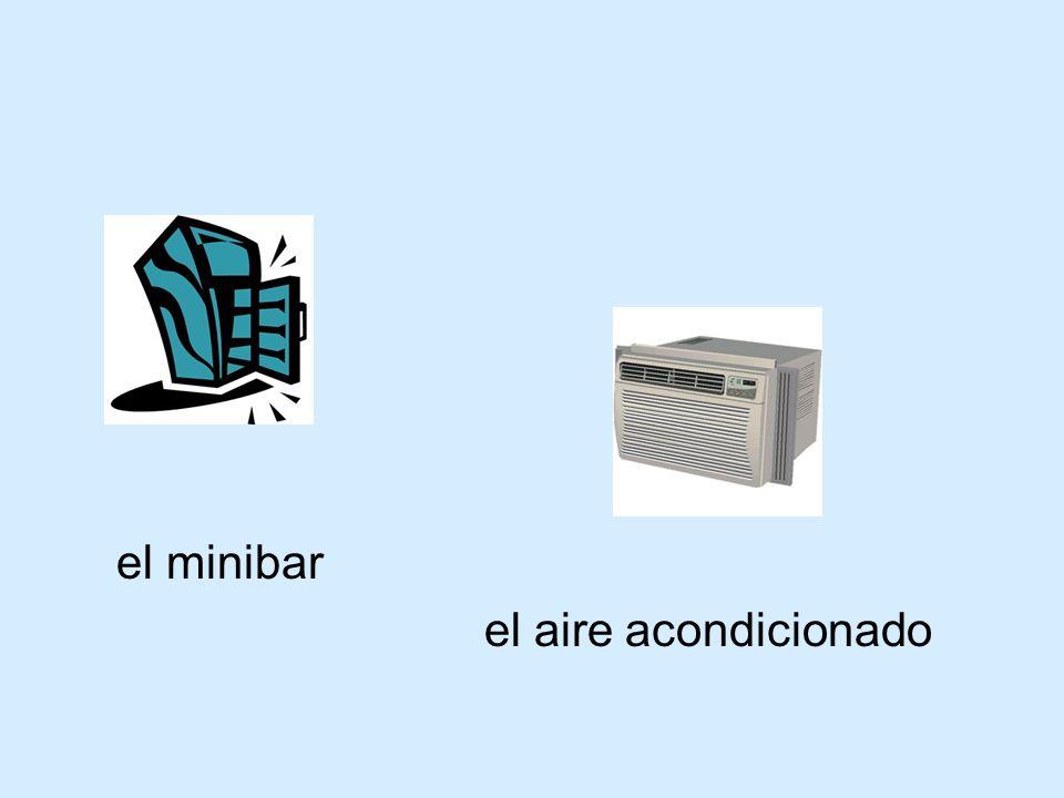 el minibar el aire acondicionado