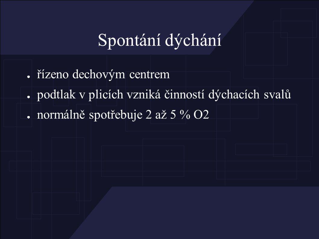 Monitorace během UPV ● SpO2, EKG, dech.