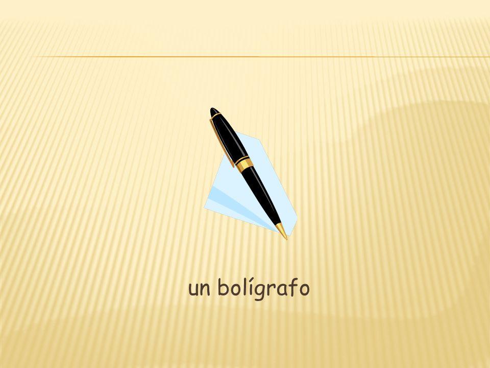 un bolígrafo
