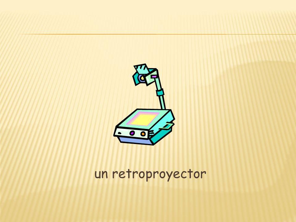un retroproyector
