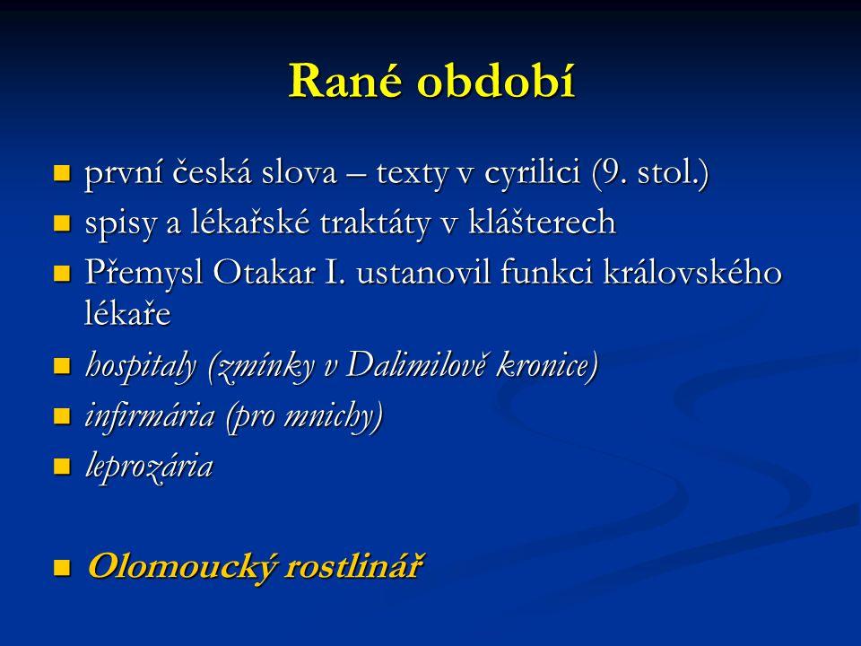 Rané období první česká slova – texty v cyrilici (9.