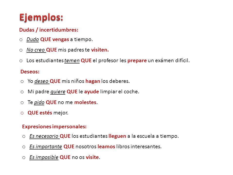 Completa con las formas del subjuntivo: Vytvořeno v programu HotPotatoes.