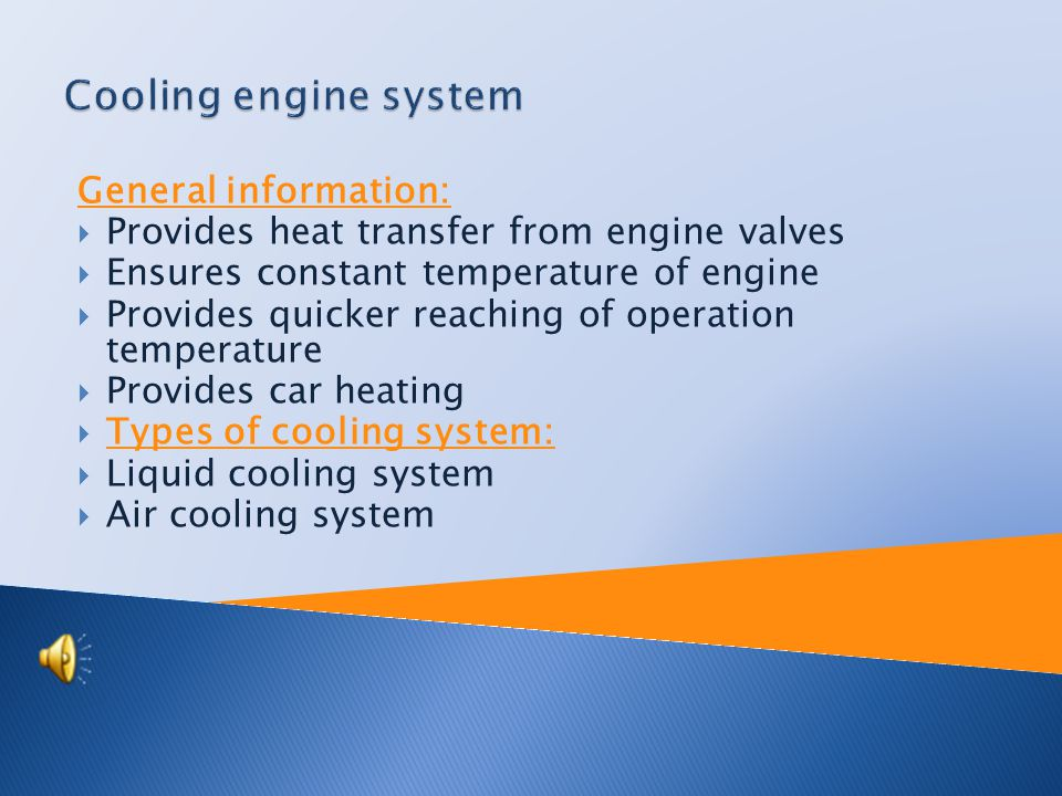Cooling engine system