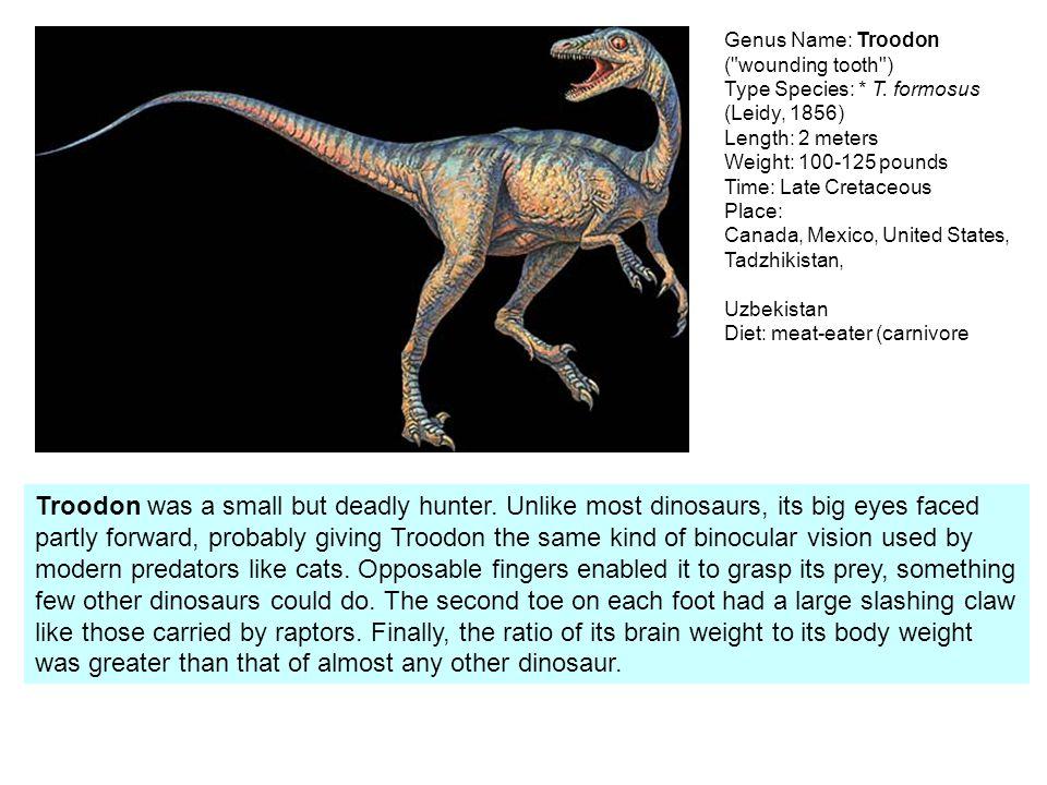 Deinonychus 3-4 m, stř. křída