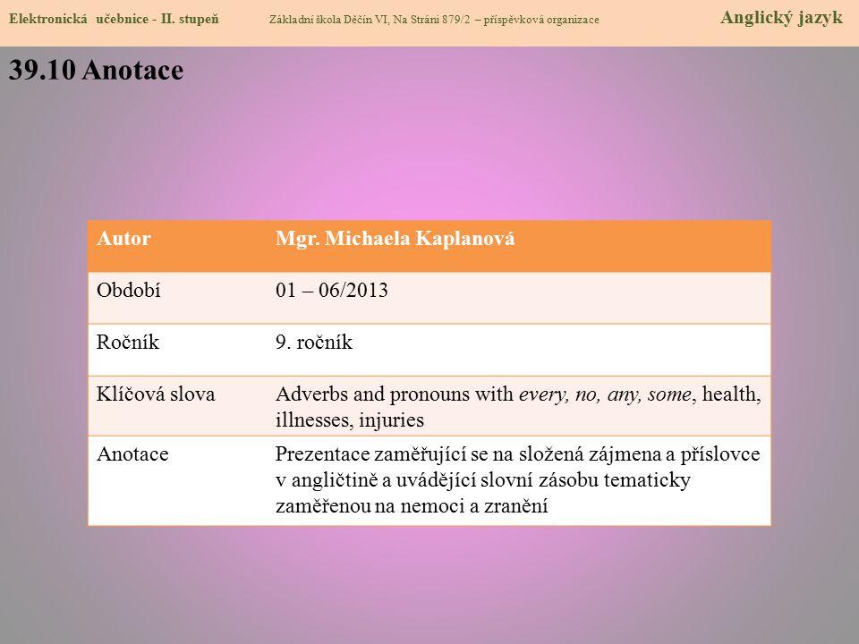 39.10 Anotace Elektronická učebnice - II.