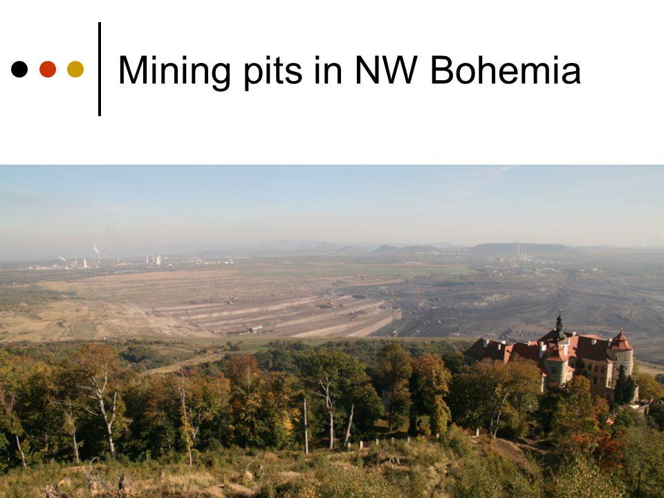 Mining pits in NW Bohemia