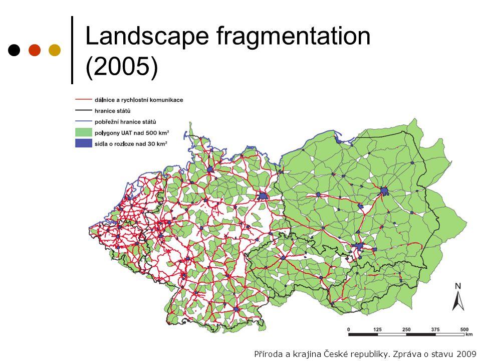 Landscape fragmentation (2005) Příroda a krajina České republiky. Zpráva o stavu 2009