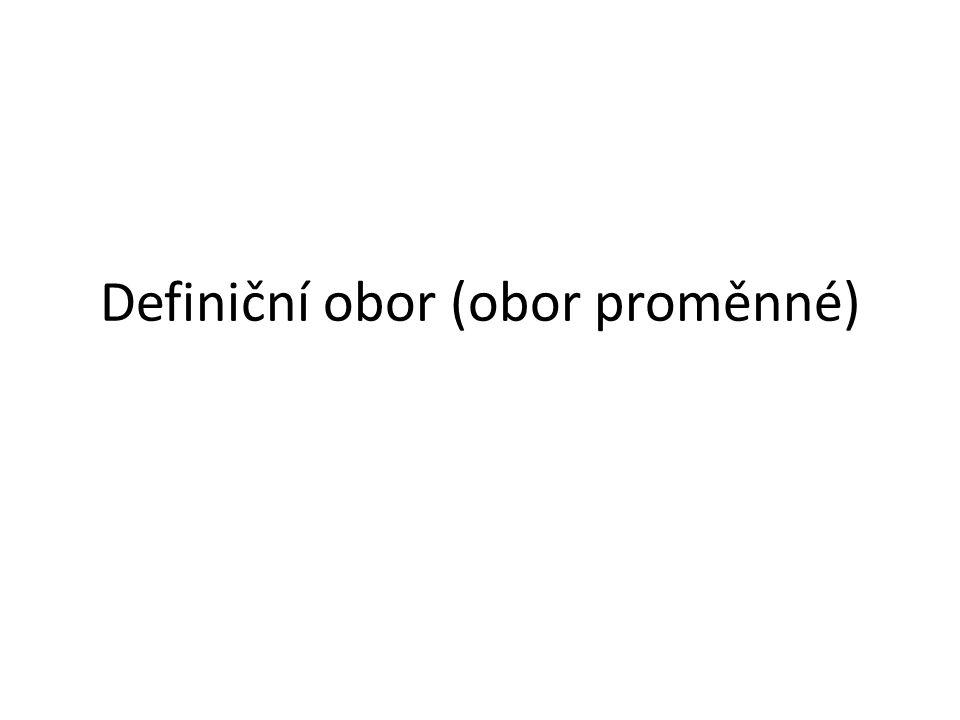 Definiční obor (obor proměnné)