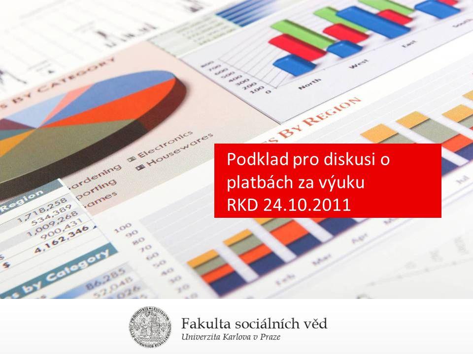 Podklad pro diskusi o platbách za výuku RKD 24.10.2011