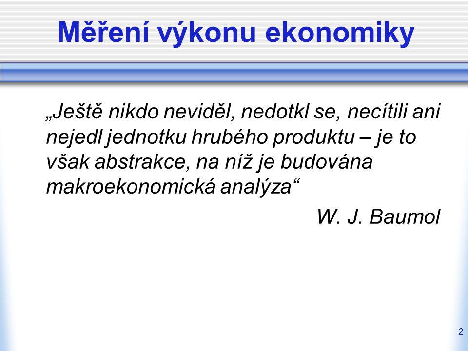 3 Makroekonomické agregáty = souhrnné národohospodářské veličiny od 30.