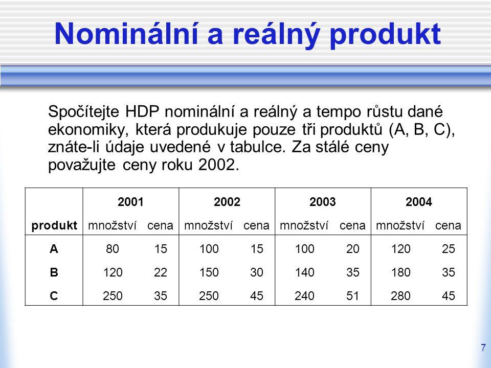 18 Inflace - pojmy inflace  makroekonomická nerovnováha, která se projevuje růstem cenové hladiny  růst peněžní zásoby v ekonomice dezinflace deflace cenová stabilita