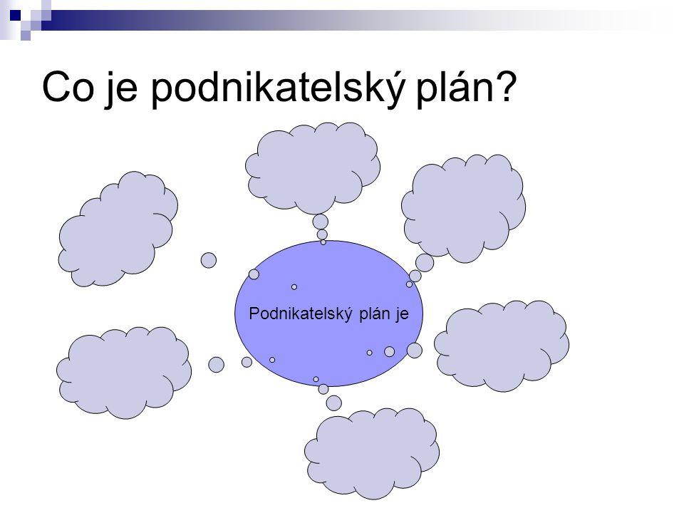 Co je podnikatelský plán? Podnikatelský plán je