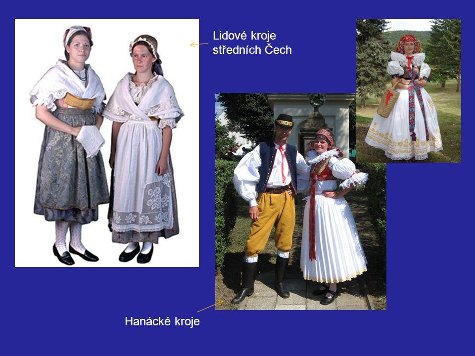 Lidové kroje středních Čech Hanácké kroje
