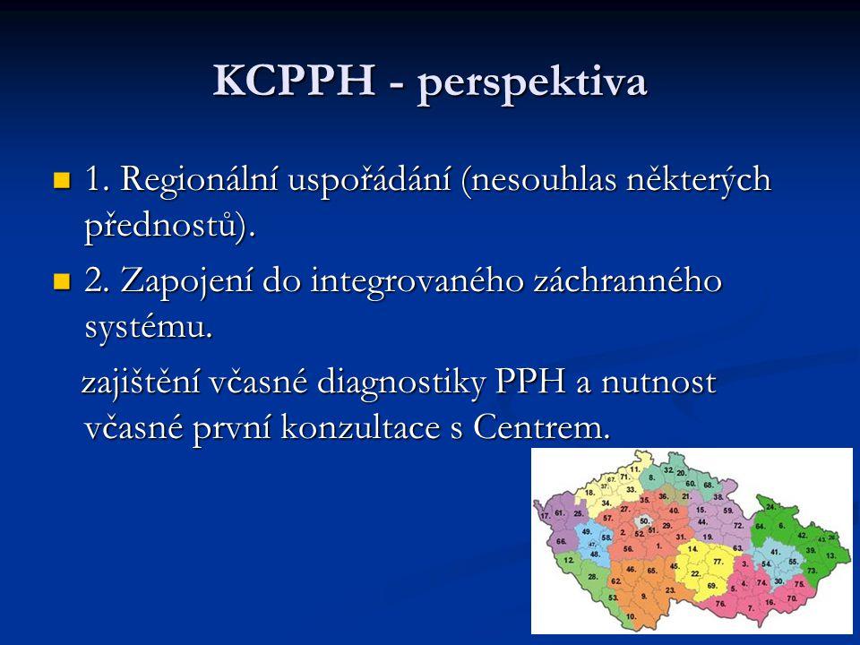 KCPPH - perspektiva 1.Regionální uspořádání (nesouhlas některých přednostů).