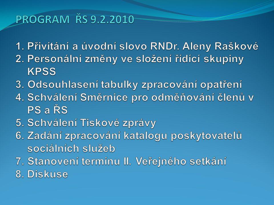 1.Přivítání a úvodní slovo 1. Přivítání a úvodní slovo /RNDr.