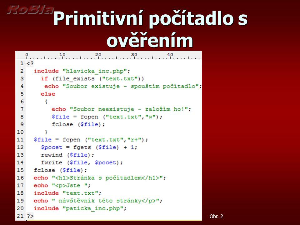 Primitivní počítadlo s ověřením Obr. 2