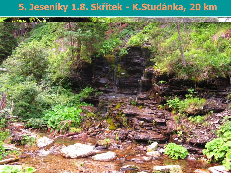 6. Jeseníky – Ramzová-K.Studánka 9.-10.8., 40 km