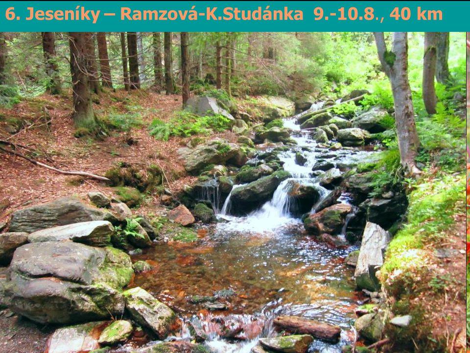 7. Jeseníky – Biskupská kupa 21.8., 15 km