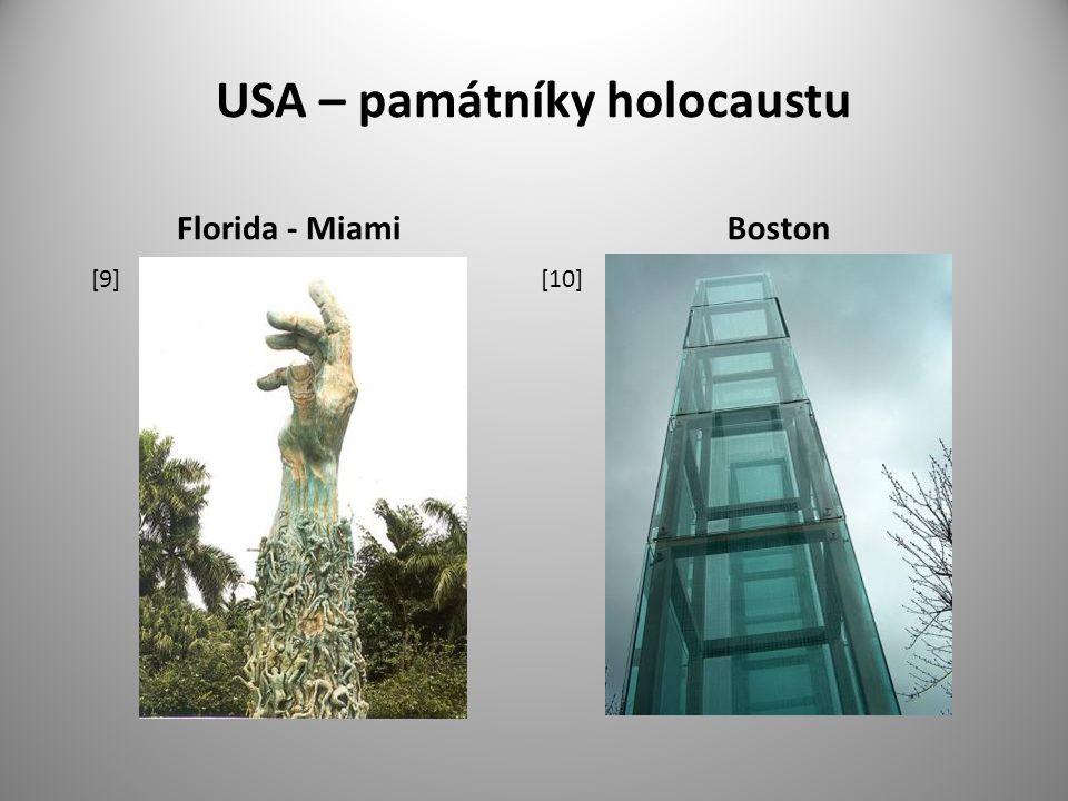 USA – památníky holocaustu Florida - MiamiBoston [9] [10]