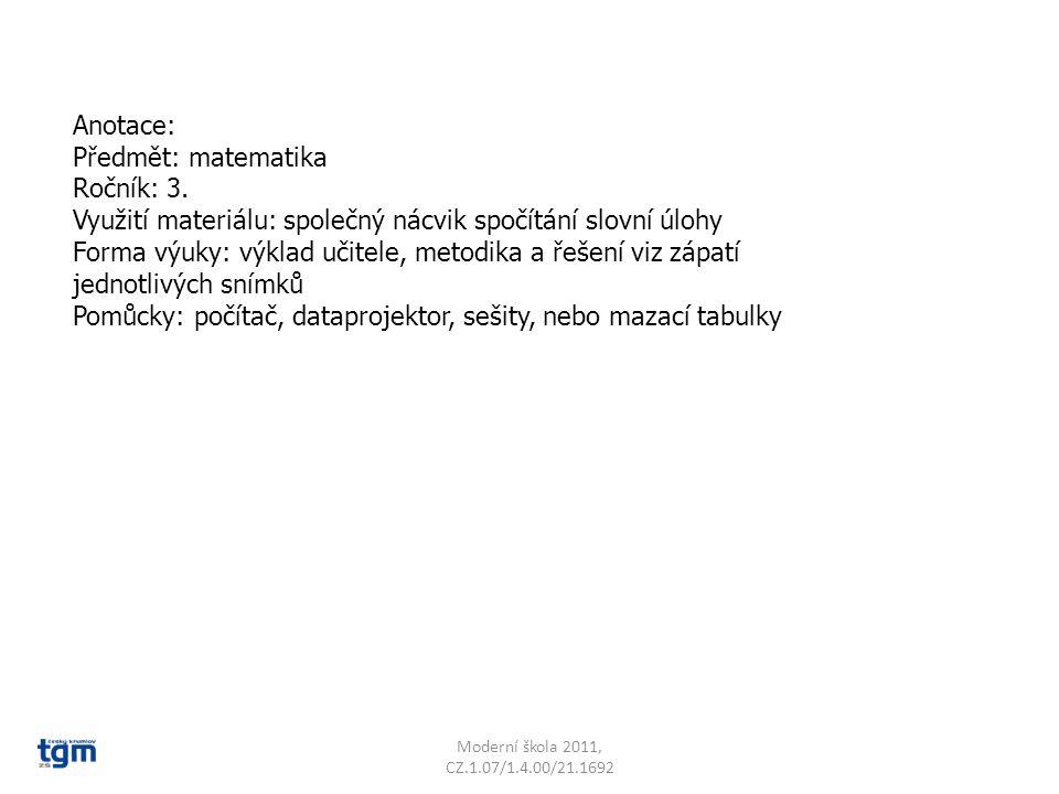 Moderní škola 2011, CZ.1.07/1.4.00/21.1692 Babička dala třešně na talíř.