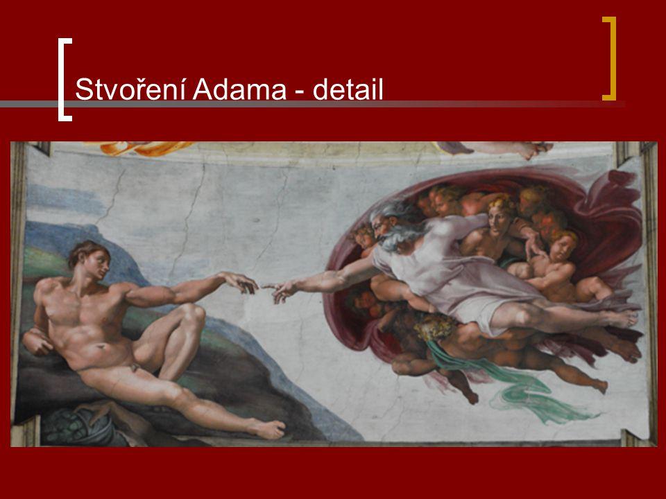 Stvoření Adama - detail