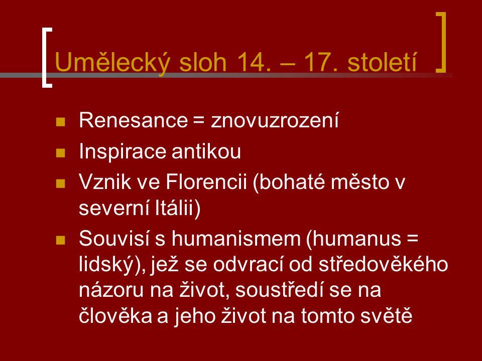 Umělecký sloh 14.– 17.
