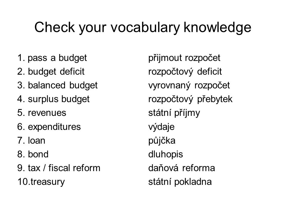 Check your vocabulary knowledge 1.