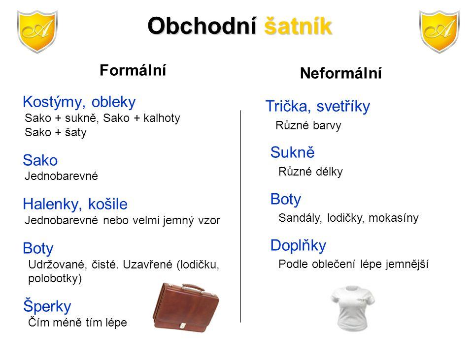 Formální Kostýmy, obleky Sako + sukně, Sako + kalhoty Sako + šaty Sako Jednobarevné Halenky, košile Jednobarevné nebo velmi jemný vzor Boty Udržované,