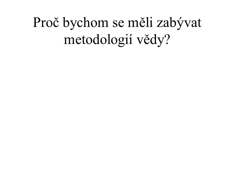 Metodologie vědeckých výzkumných programů I.