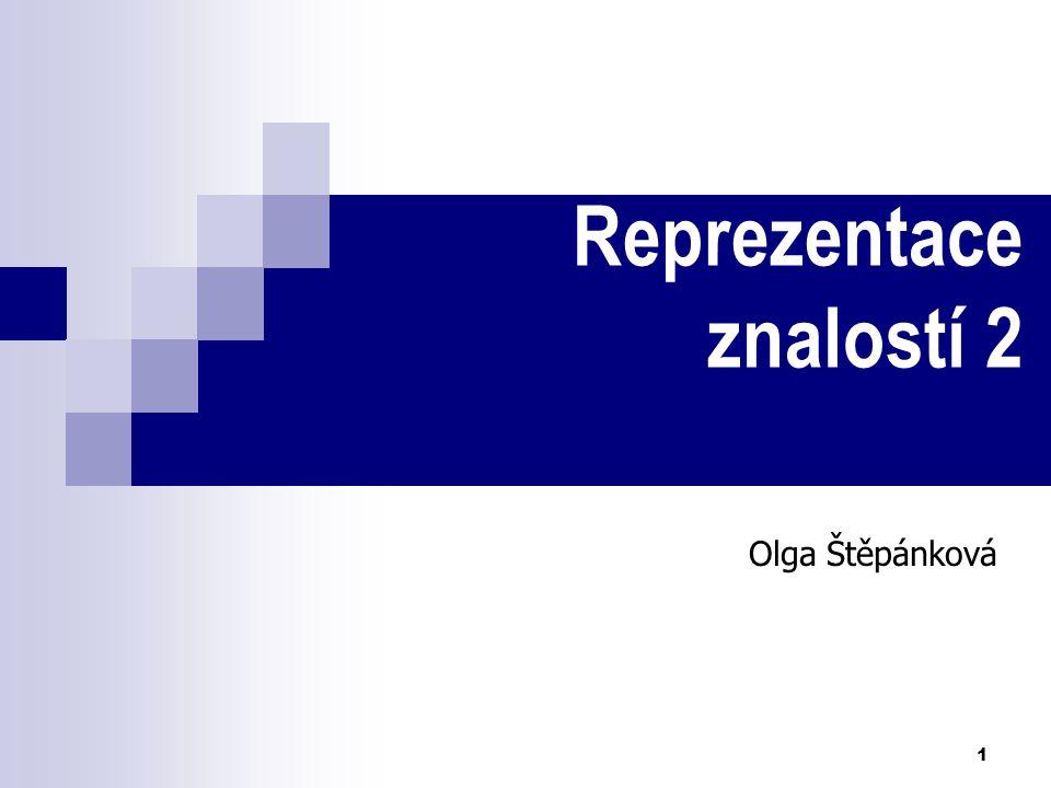 1 Reprezentace znalostí 2 Olga Štěpánková