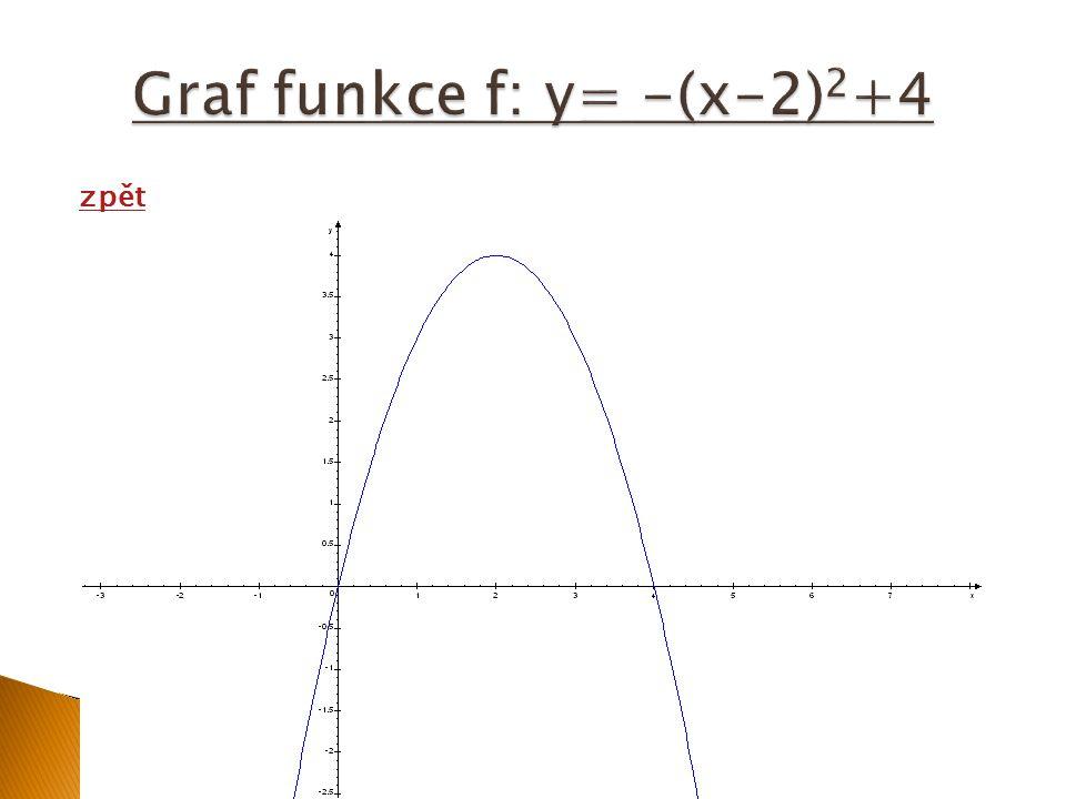 y= a(x-m) 2 +n … y=ax 2 +bx+c Lze odvodit : Tedy souřadnice vrcholu paraboly jsou: