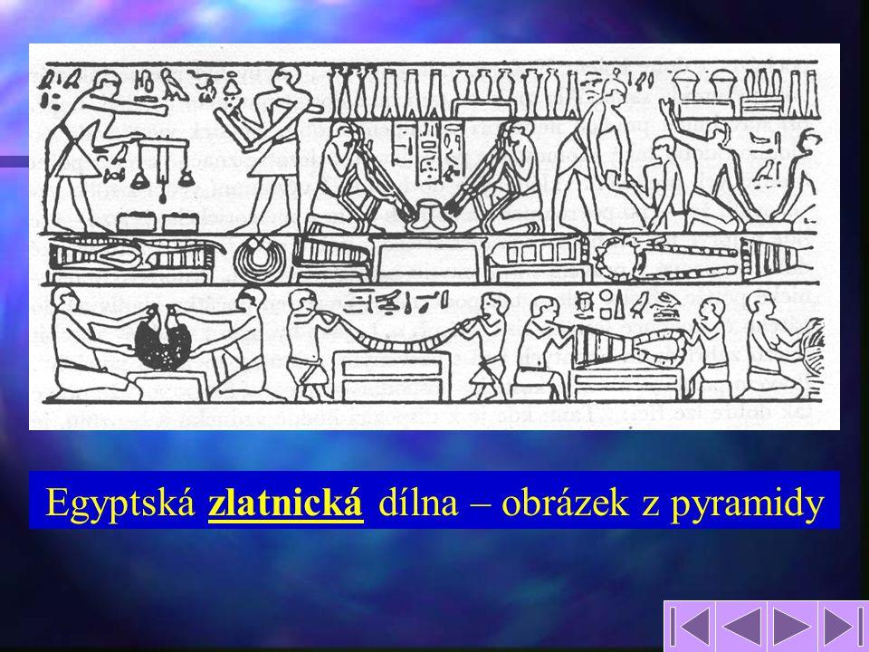 7 Egyptská zlatnická dílna – obrázek z pyramidy