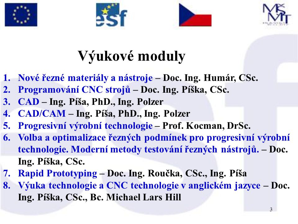 3 1.Nové řezné materiály a nástroje – Doc. Ing. Humár, CSc.