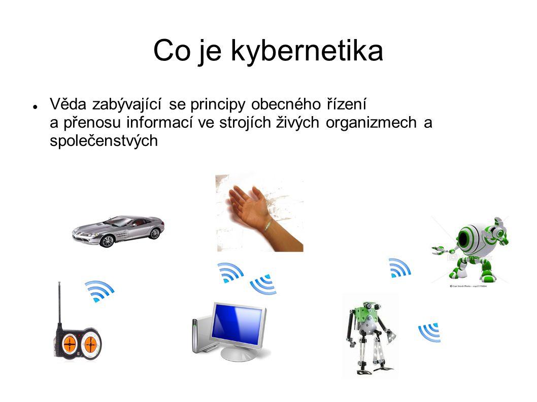 Co je kybernetika Věda zabývající se principy obecného řízení a přenosu informací ve strojích živých organizmech a společenstvých