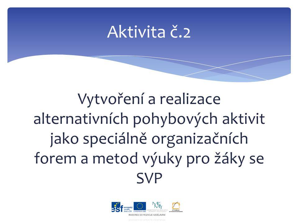 Vytvoření a realizace alternativních pohybových aktivit jako speciálně organizačních forem a metod výuky pro žáky se SVP Aktivita č.2