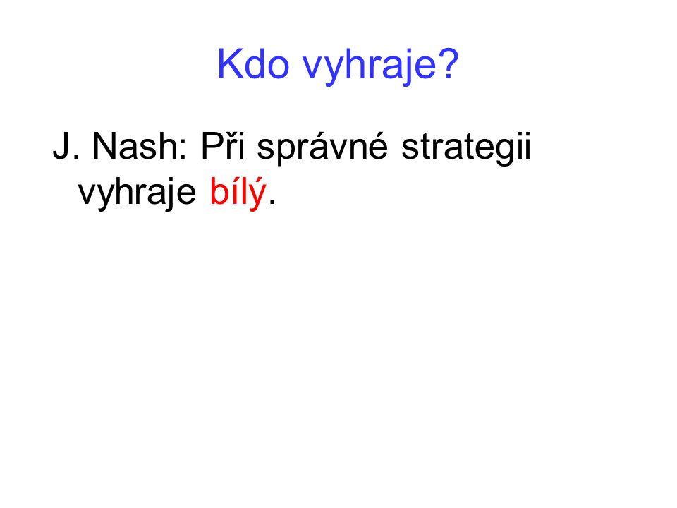 Kdo vyhraje? J. Nash: Při správné strategii vyhraje bílý.