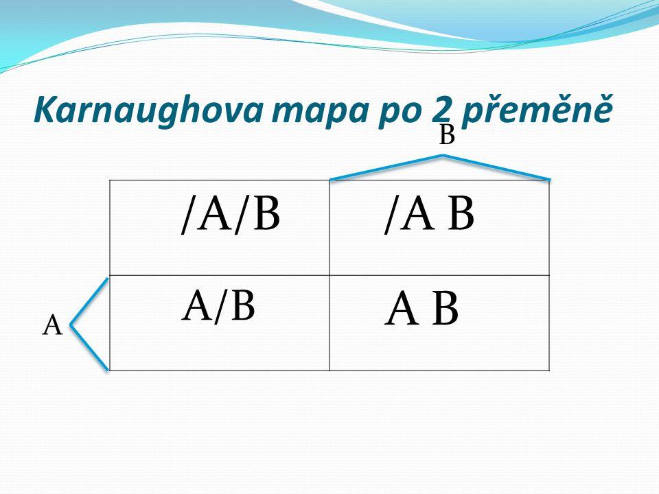 Karnaughova mapa po 2 přeměně /A/B /A B A/B A B B A